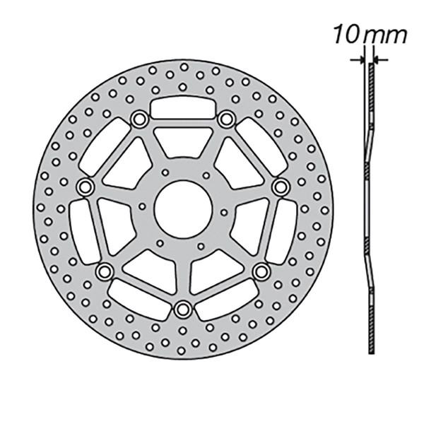 Disque de frein FE.FL29509