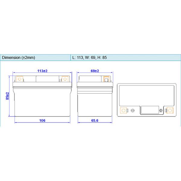 Batterie HJTZ5S-FP-SI
