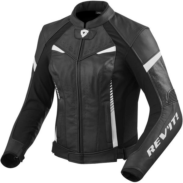 Blouson Moto Cuir REVIT Xena 2 Femme Noir Rouge
