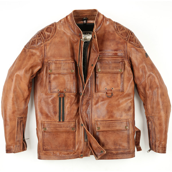 Blouson Screamy Cuir Crust Camel