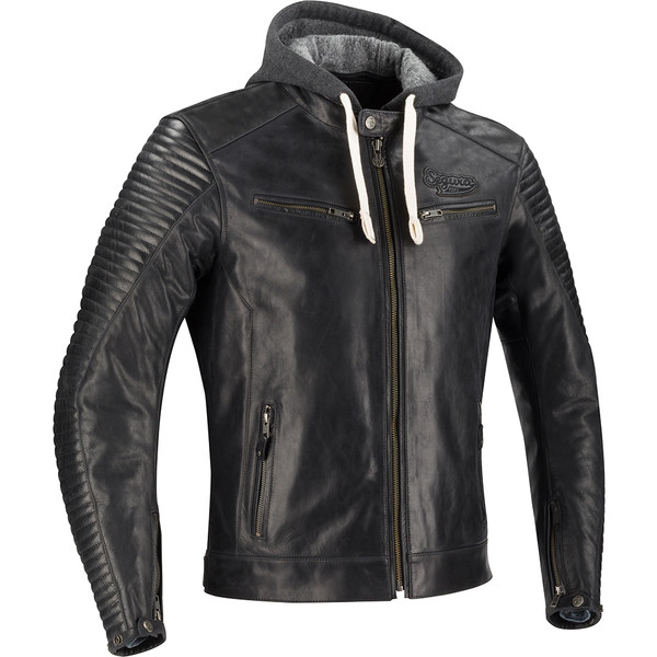 Leather King Sporty Scooter Veste en cui