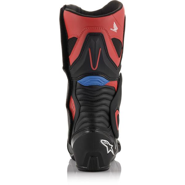 Bottes Moto Alpinestars SMX 6 V2 Noir Gris Rouge Fluo