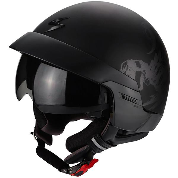casque exo 100 scorpion moto dafy moto casque jet de moto. Black Bedroom Furniture Sets. Home Design Ideas