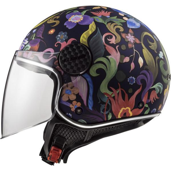 Casque Of558 Sphere Lux Bloom Ls2 Moto Dafy Moto Casque Jet De Moto
