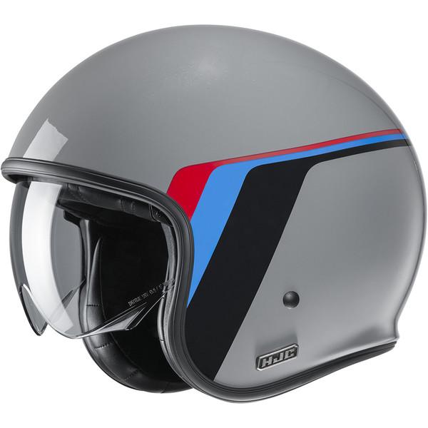 XS Casque moto HJC V30 EQUINOX MC2SF Noir//Blanc//Bleu