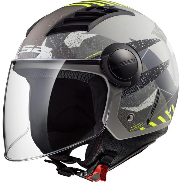 Casque Of562 Airflow Camo Ls2 Moto Dafy Moto Casque Jet De Moto