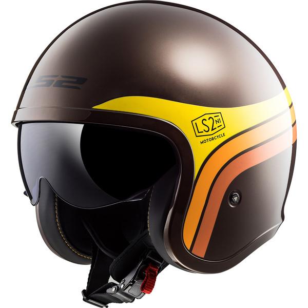 Casque Of599 Spitfire Sunrise Ls2 Moto Dafy Moto Casque Jet De Moto