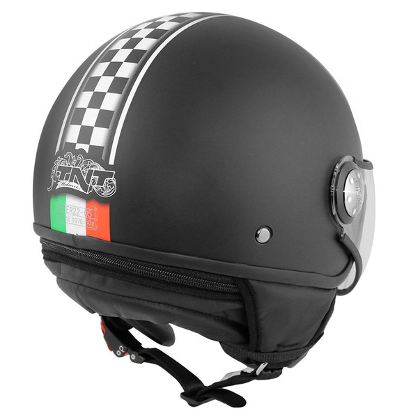 casque puck cafe racer italia tnt moto dafy moto casque jet de moto. Black Bedroom Furniture Sets. Home Design Ideas