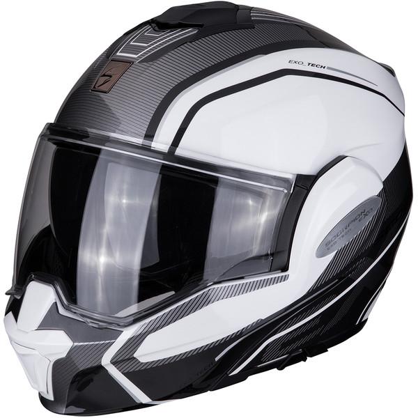 Politique commerciale Dafy moto Casque-scorpion-exo-tech-time-off-blanc-gris-1