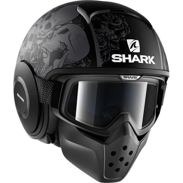 casque drak sanctus mat shark moto dafy moto casque jet de moto. Black Bedroom Furniture Sets. Home Design Ideas