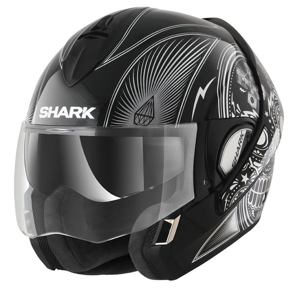 casque evoline series 3 mezcal chrome shark moto dafy moto casque modulable de moto. Black Bedroom Furniture Sets. Home Design Ideas