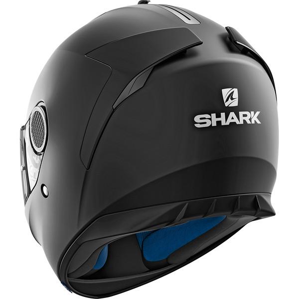 casque spartan blank mat shark moto dafy moto casque int gral de moto. Black Bedroom Furniture Sets. Home Design Ideas