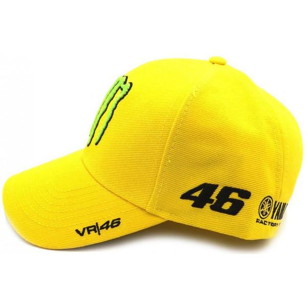 Casquette jaune sponsor