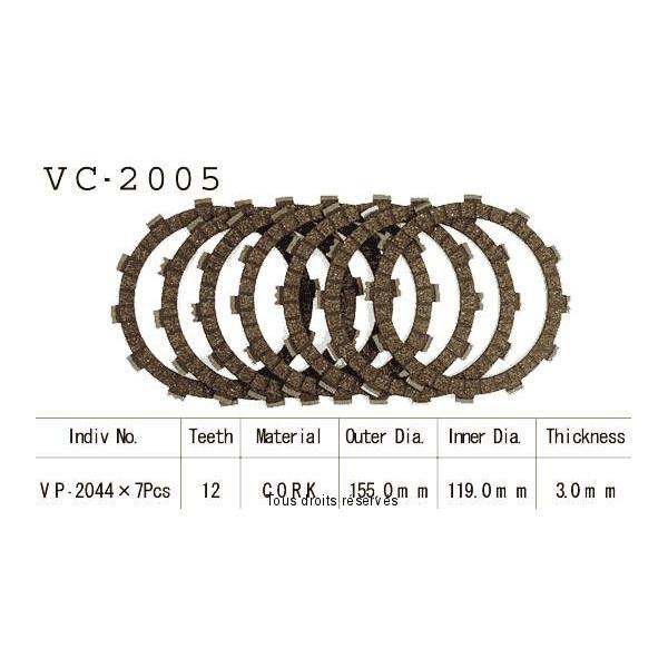 Disques garnis d'embrayage Cross VC2005