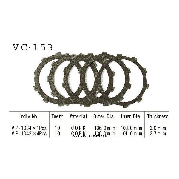 Disques garnis d'embrayage VC153