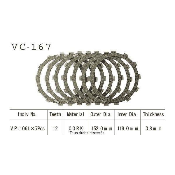 Disques garnis d'embrayage VC167