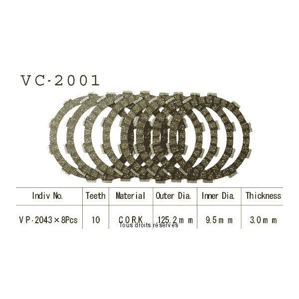 Disques garnis d'embrayage VC2001