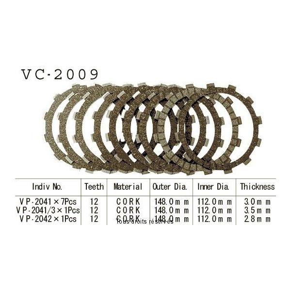 Disques garnis d'embrayage VC2009