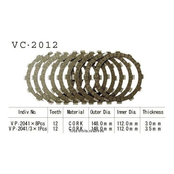Disques garnis d'embrayage VC2012