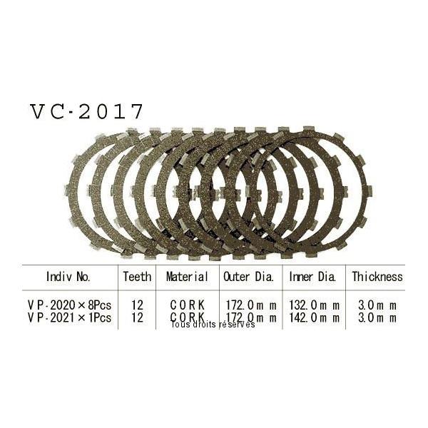 Disques garnis d'embrayage VC2017