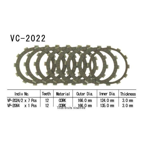 Disques garnis d'embrayage VC2022