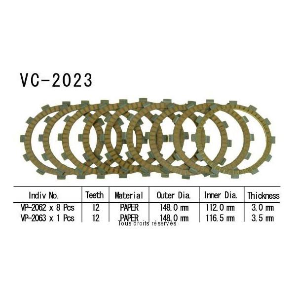 Disques garnis d'embrayage VC2023