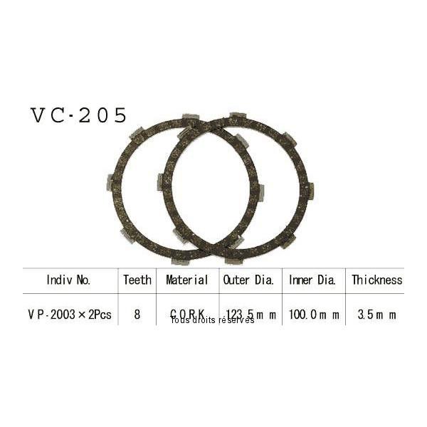 Disques garnis d'embrayage VC205