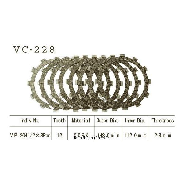 Disques garnis d'embrayage VC228