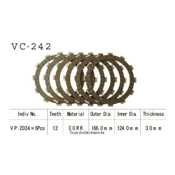 Disques garnis d'embrayage VC242