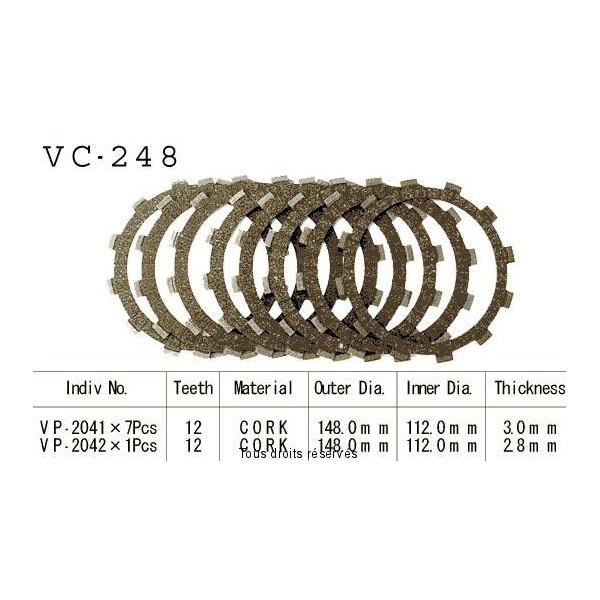 Disques garnis d'embrayage VC248