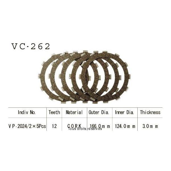 Disques garnis d'embrayage VC262