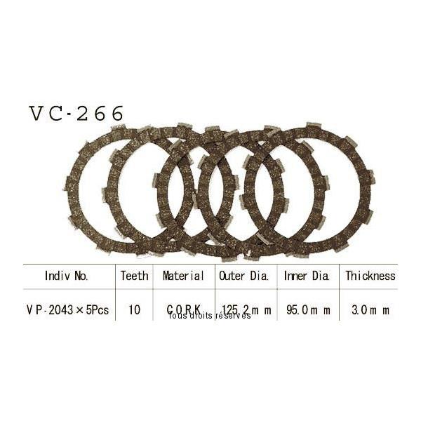 Disques garnis d'embrayage VC266