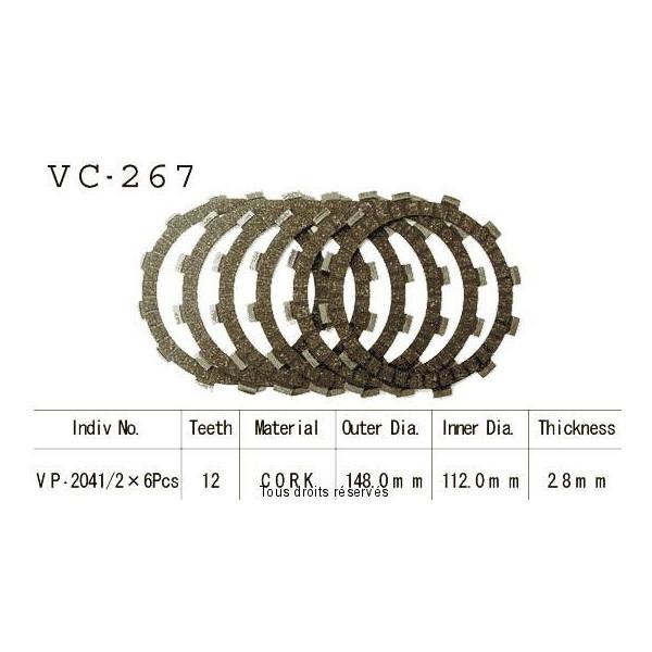 Disques garnis d'embrayage VC267
