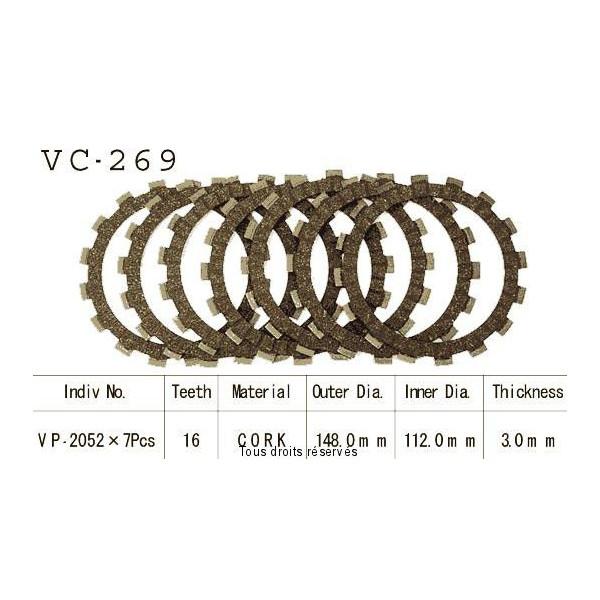 Disques garnis d'embrayage VC269