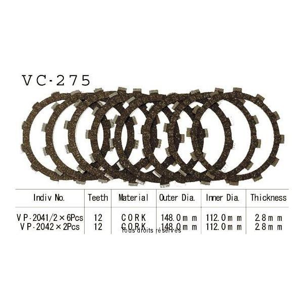 Disques garnis d'embrayage VC275