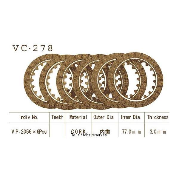 Disques garnis d'embrayage VC278