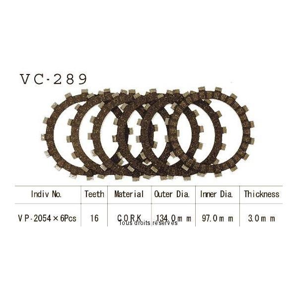Disques garnis d'embrayage VC289