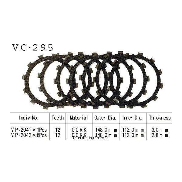 Disques garnis d'embrayage VC295