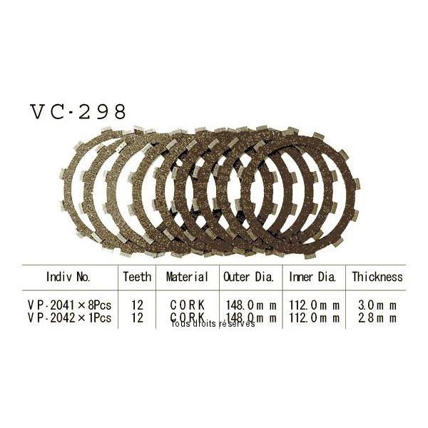 Disques garnis d'embrayage VC298