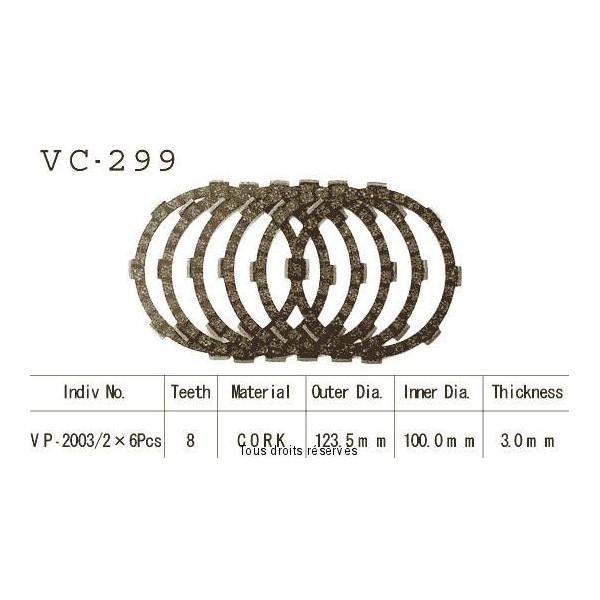 Disques garnis d'embrayage VC299