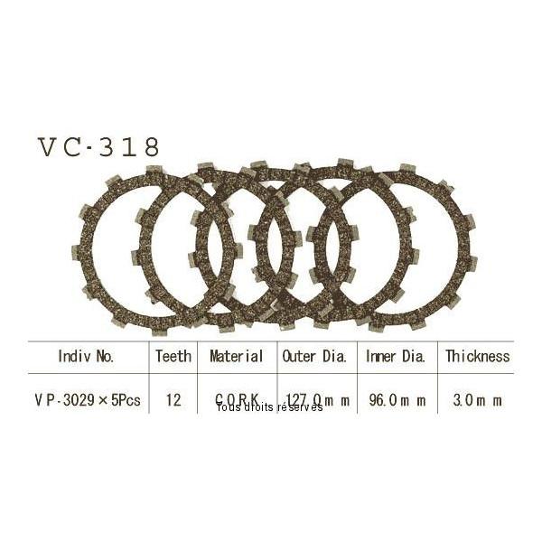Disques garnis d'embrayage VC318