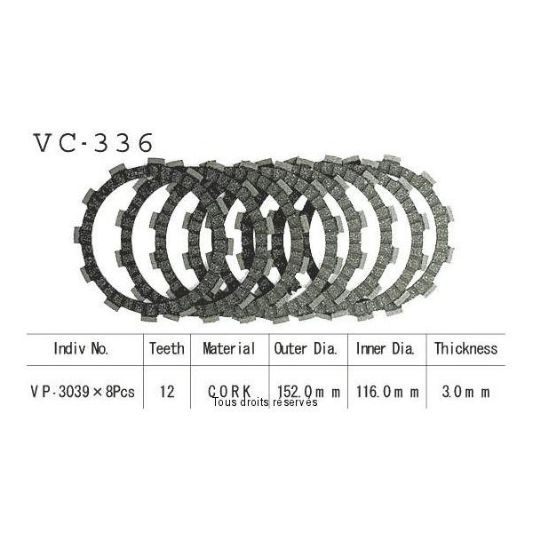 Disques garnis d'embrayage VC336