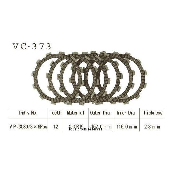 Disques garnis d'embrayage VC373