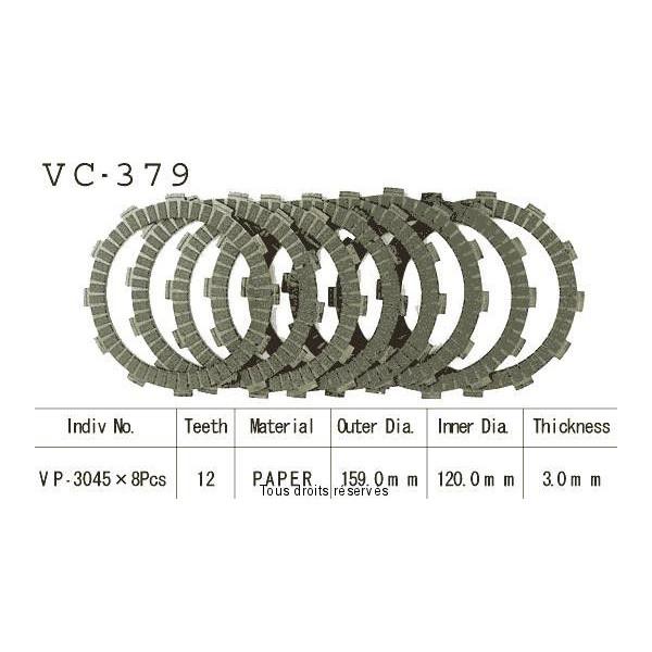 Disques garnis d'embrayage VC379