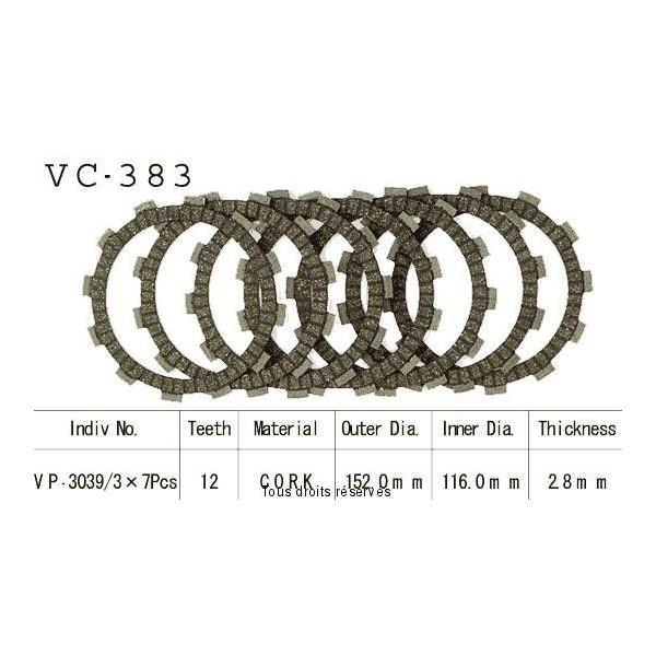 Disques garnis d'embrayage VC383