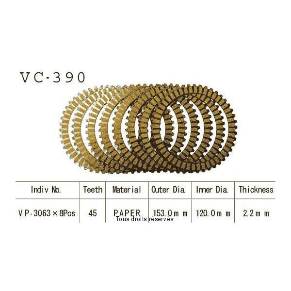 Disques garnis d'embrayage VC390