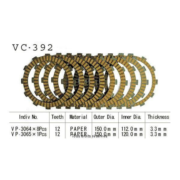 Disques garnis d'embrayage VC392