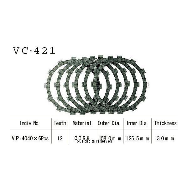 Disques garnis d'embrayage VC421