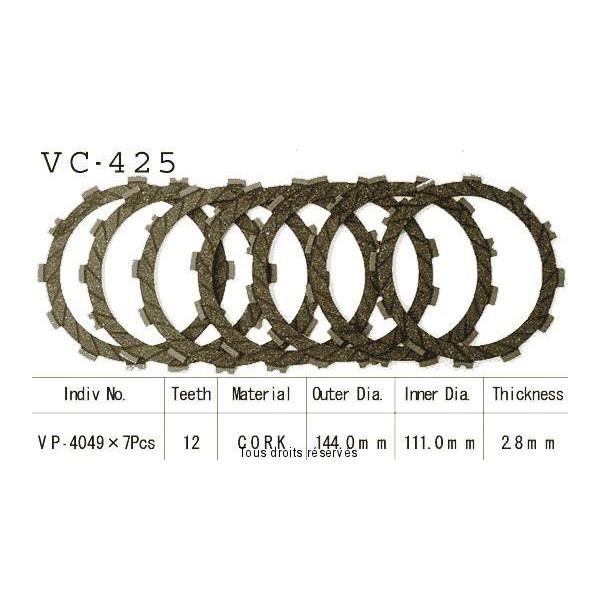 Disques garnis d'embrayage VC425