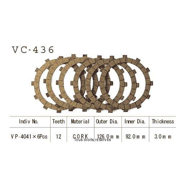 Disques garnis d'embrayage VC436